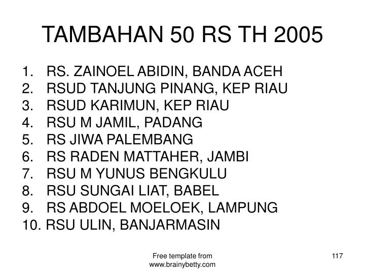 TAMBAHAN 50 RS TH 2005