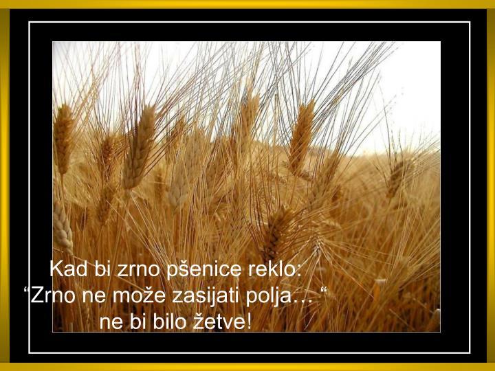 Kad bi zrno pšenice reklo