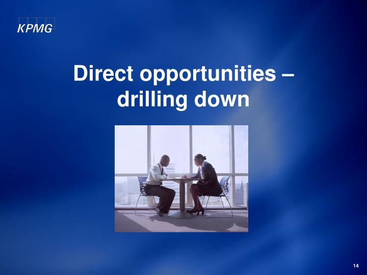 Direct opportunities –
