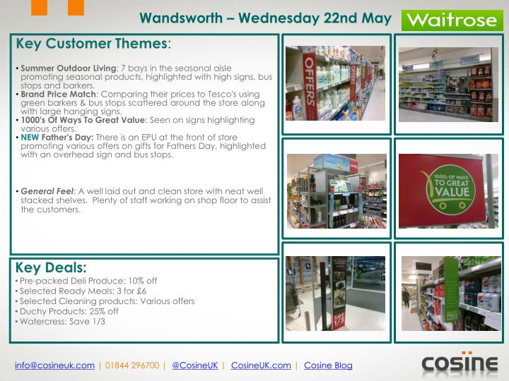 Wandsworth – Wednesday 22nd May