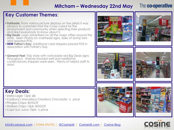 Mitcham – Wednesday 22nd May