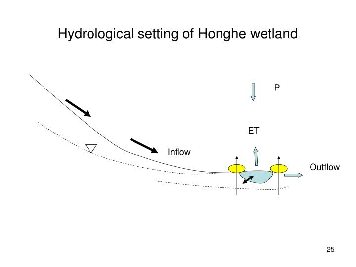Hydrological setting of Honghe wetland