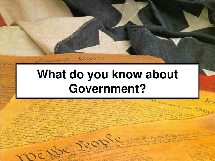 What do you know about government