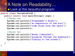 a note on readability