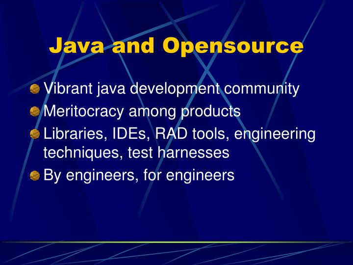 Java and Opensource