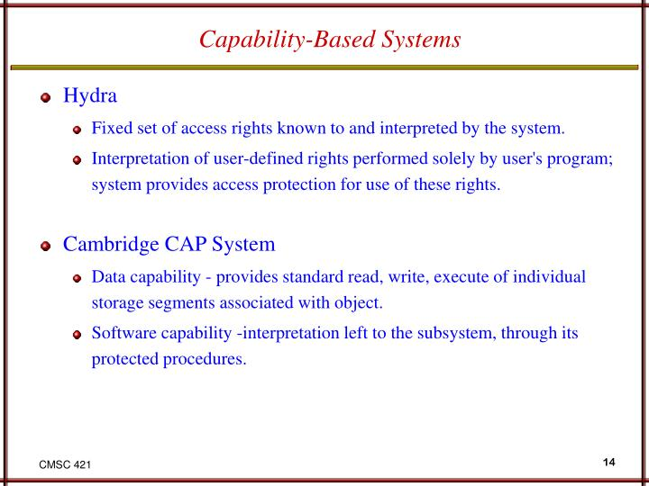 Capability-Based Systems