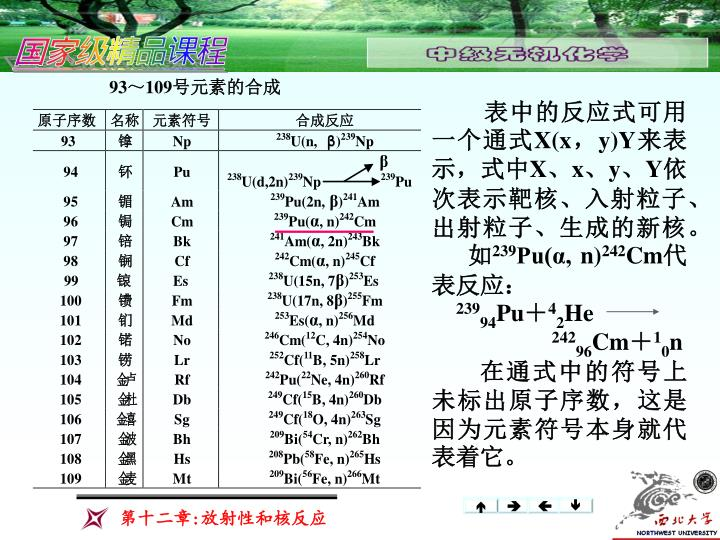 表中的反应式可用一个通式