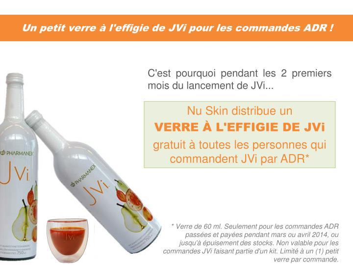 Un petit verre à l'effigie de JVi pour les commandes ADR !
