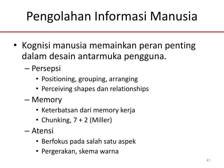 Pengolahan Informasi Manusia