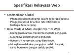 spesifikasi rekayasa web2