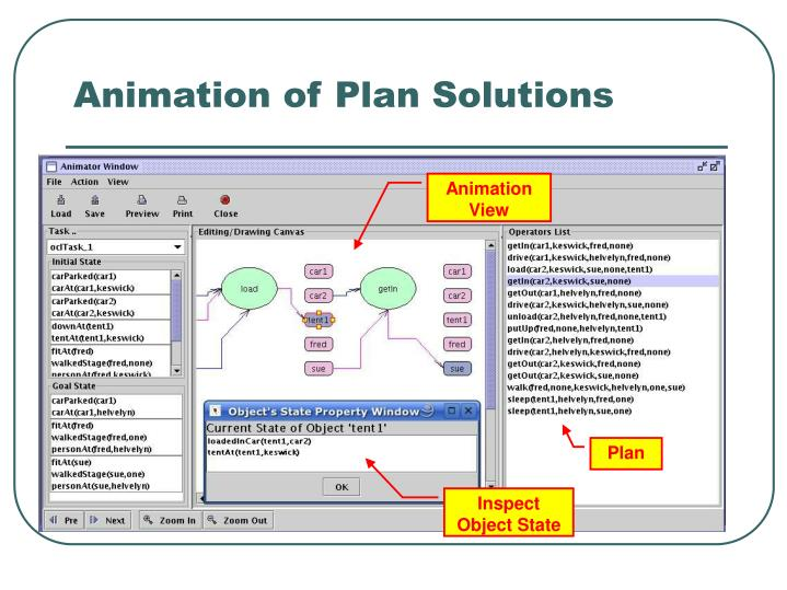 Animation of Plan Solutions