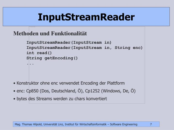 InputStreamReader