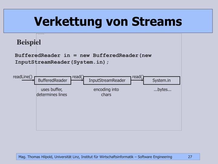 Verkettung von Streams