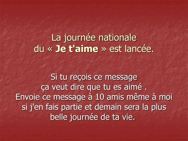La journée nationale