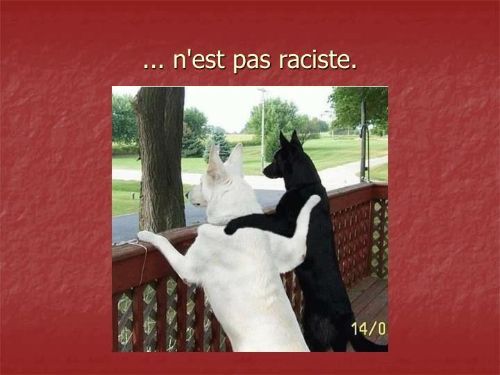 ... n'est pas raciste.