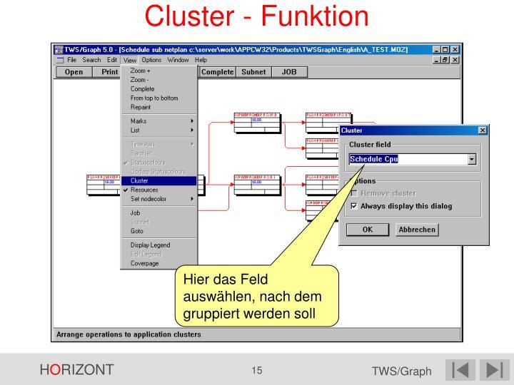 Cluster - Funktion