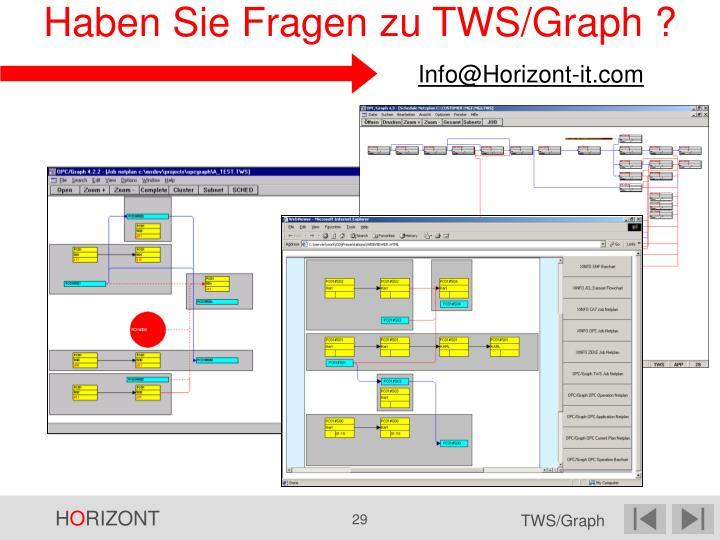 Haben Sie Fragen zu TWS/Graph ?