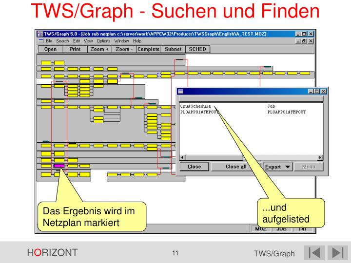 TWS/Graph - Suchen und Finden