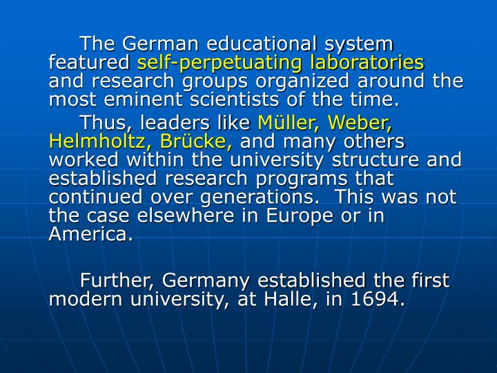 The German educational system featured