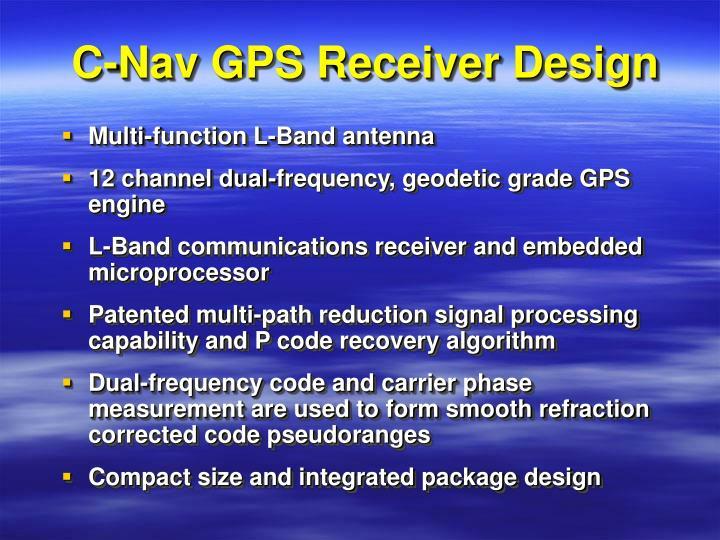 C-Nav GPS Receiver Design