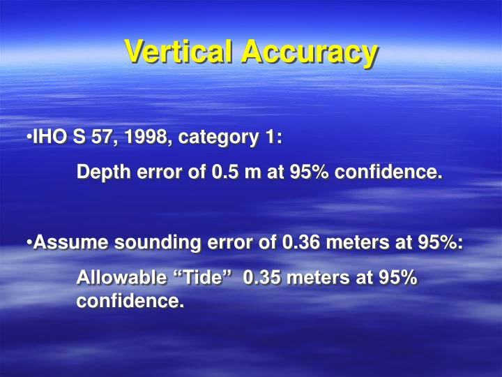 Vertical Accuracy