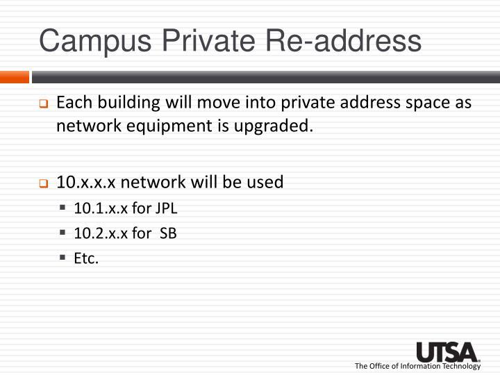 Campus Private Re-address