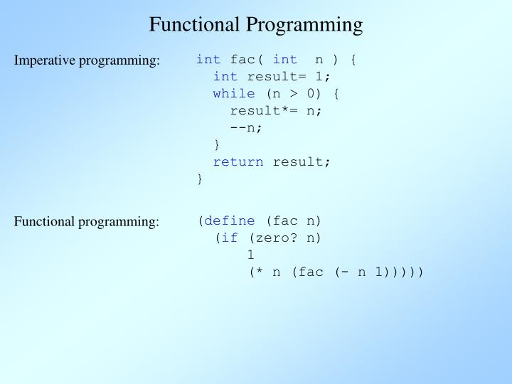 Imperative programming: