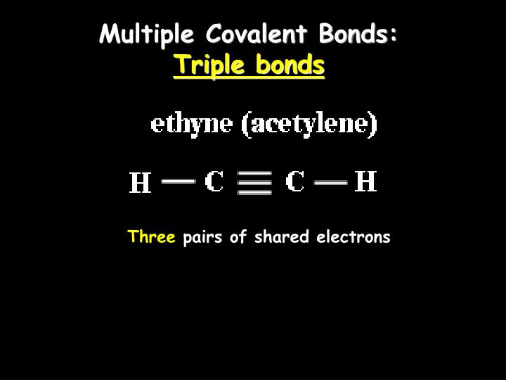Multiple Covalent Bonds: