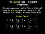the octet rule covalent compounds