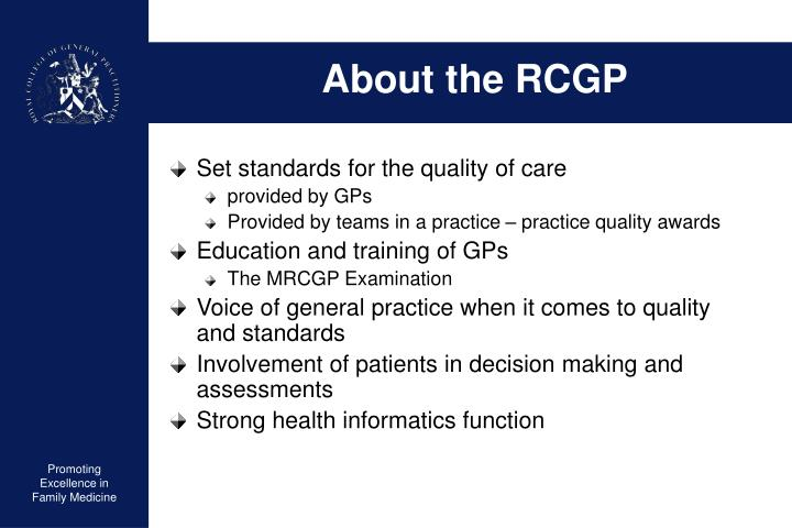 About the RCGP