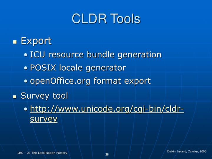 CLDR Tools
