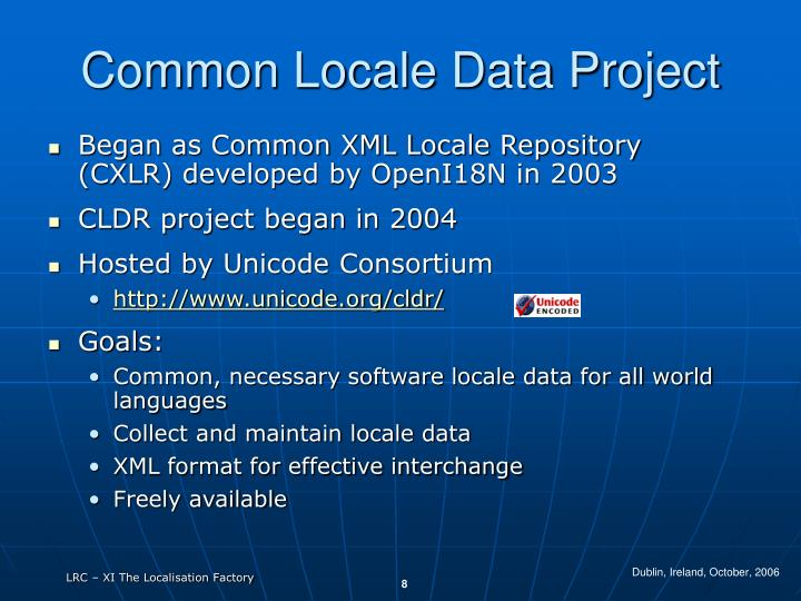 Common Locale Data Project