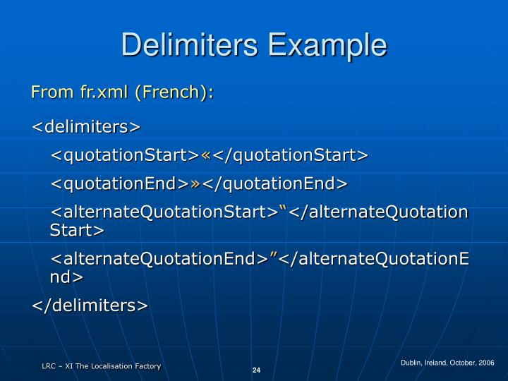 Delimiters Example