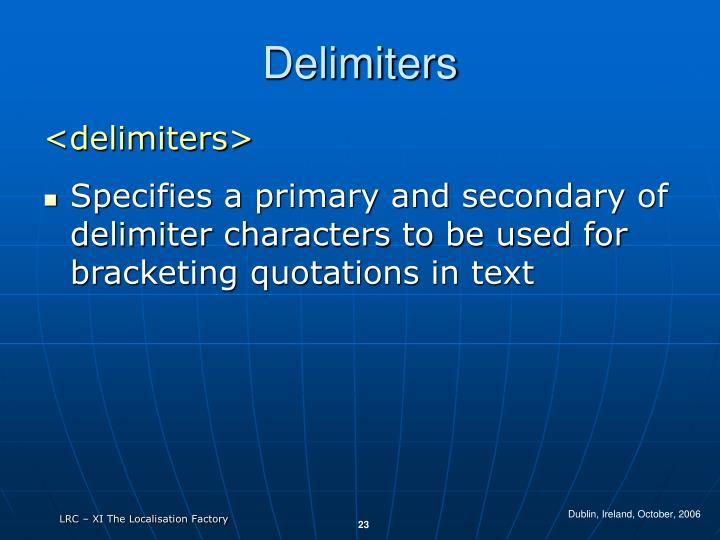 Delimiters