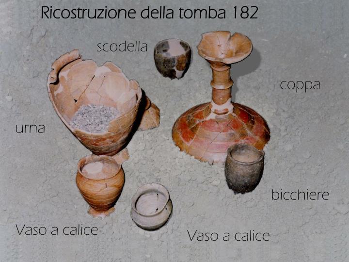 Ricostruzione della tomba 182