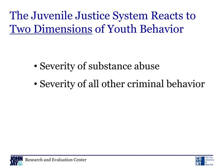 The Juvenile Justice System Reacts to