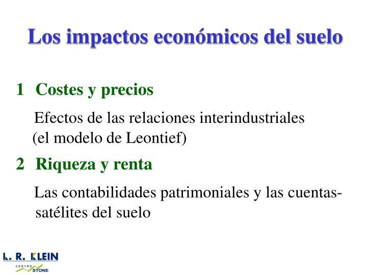 Los impactos económicos del suelo