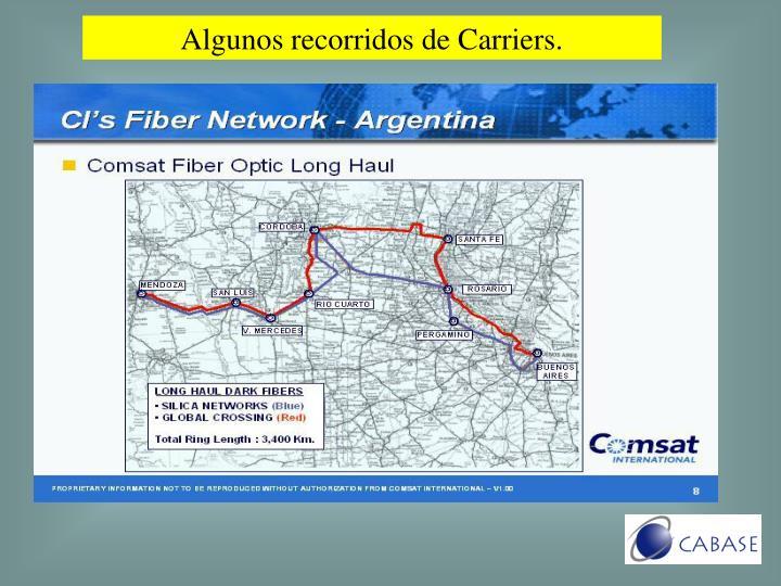Algunos recorridos de Carriers.