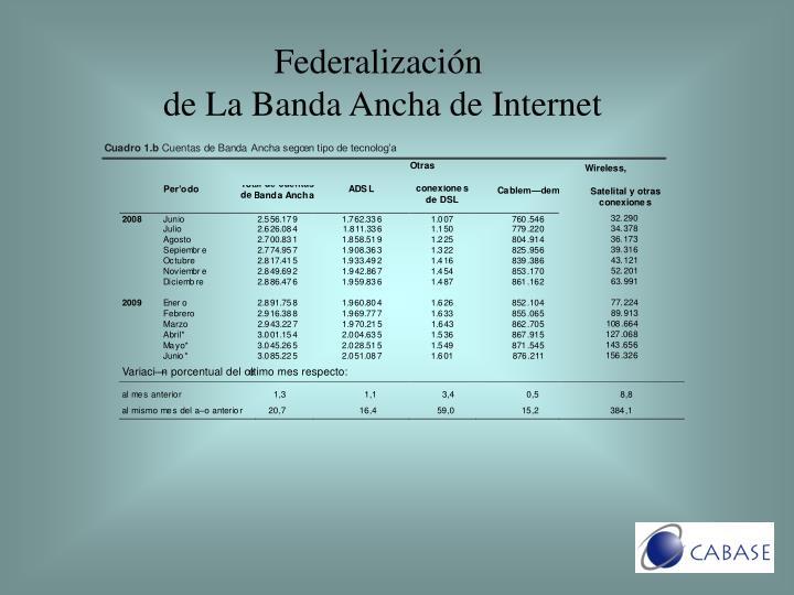 Federalización