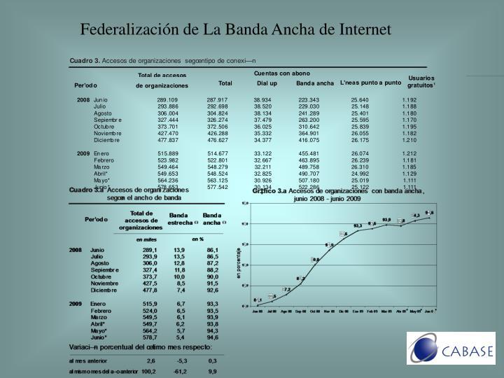 Federalización de La Banda Ancha de Internet