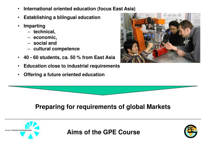 International oriented education (focus East Asia)