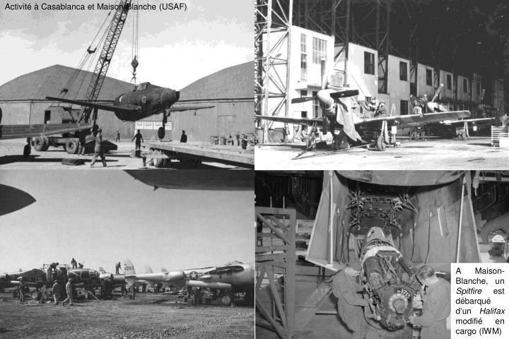 Activité à Casablanca et Maison-Blanche (USAF)