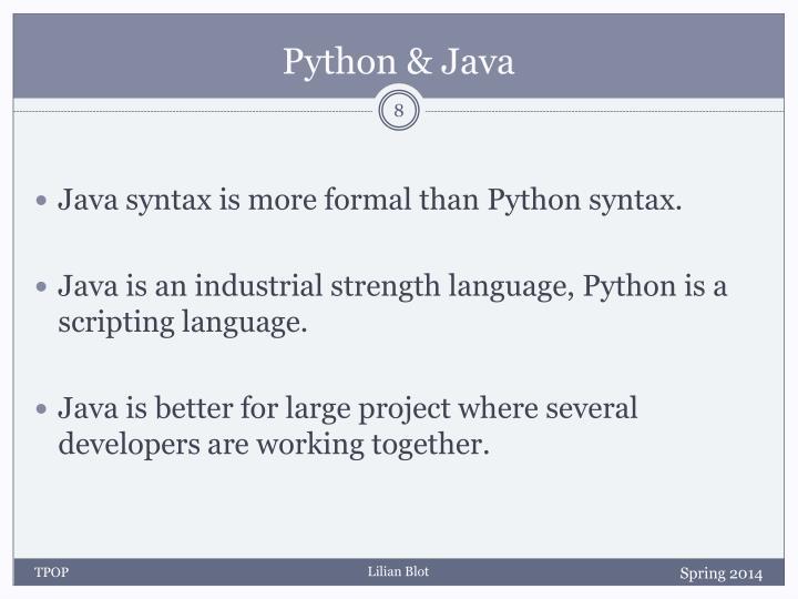 Python & Java