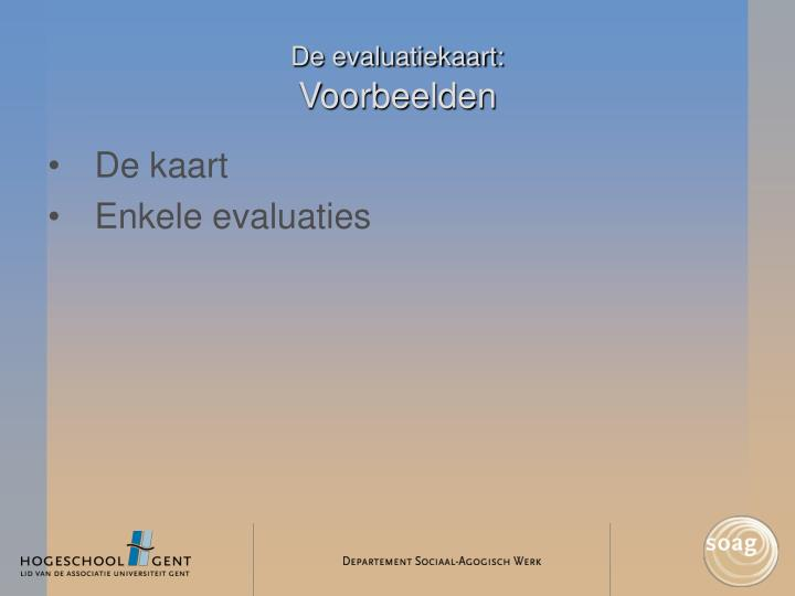 De evaluatiekaart: