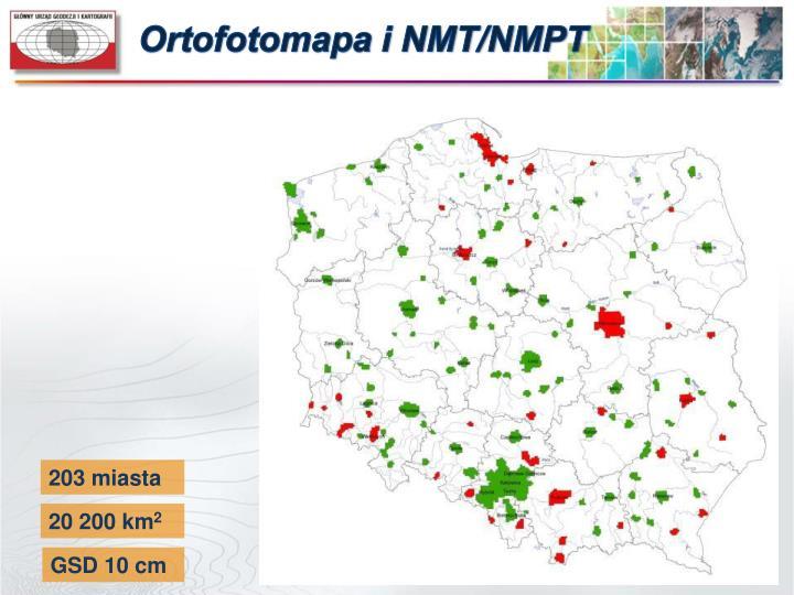 Ortofotomapa i NMT/NMPT