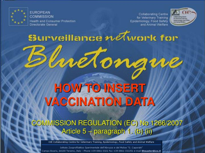 How to insert vaccination data