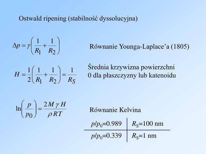 Ostwald ripening (stabilność dyssolucyjna)