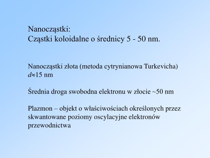 Nanocząstki: