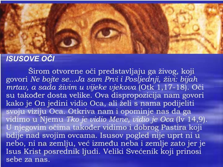 ISUSOVE OČI