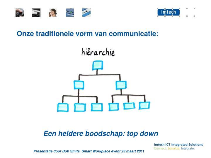 Onze traditionele vorm van communicatie: